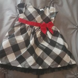 Checkered girls dress
